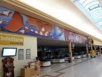 Fresque pour la Ligue contre le Cancer dans le hall du Leclerc Portes de Gouesnou
