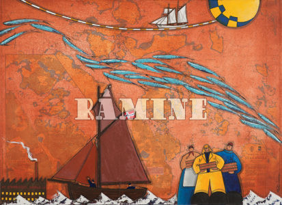 Pêche à la sardine à Stavanger, 100 x 73 cm