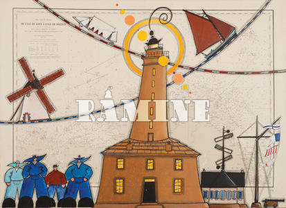 Le phare de l'île de Batz, 100 x 73 cm