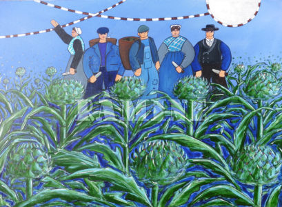 Culture d'artichaut, 73 x 100 cm