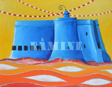 Le Taureau en bleu, 73 x 54 cm