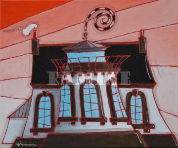 Maison Phare, 46 x 55 cm