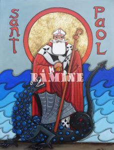 Saint Pol Aurélien, saint fondateur de Bretagne, 73 x 54 cm