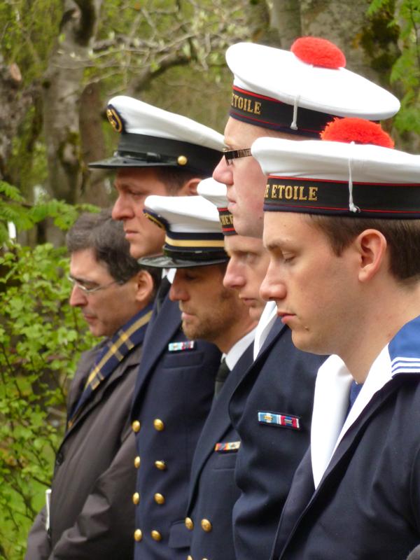 Les marins de l'Etoile vêtus pour une commémoration