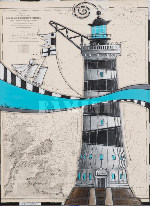Le phare des Roches Douvres de 1868