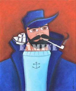 La moustache, acrylique sur toile, 46 x 55 cm