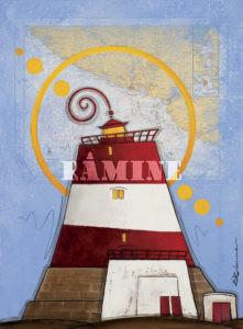 Lille Presteskjaer Acrylique sur carte marine, 54 x 73 cm