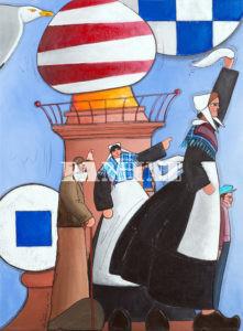 Au Revoir Acrylique sur toile, 54 x 73 cm
