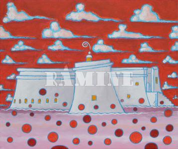 D'écume et de nuage acrylique sur toile, 46 x 55 cm