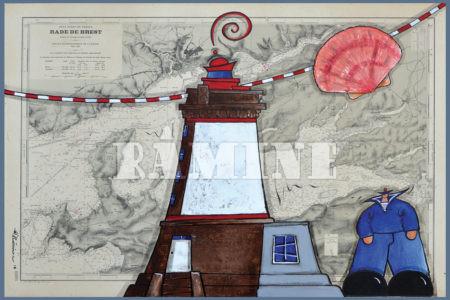 Carte postale Rade de Brest