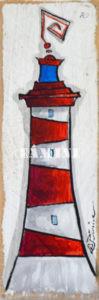 Acrylique sur bois, 28 x 8 cm