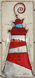 Acrylique sur bois, 13 x 34 cm