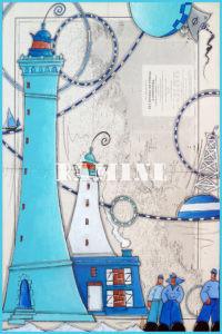 Carte postale Ancien et nouveau phare de l'île Vierge