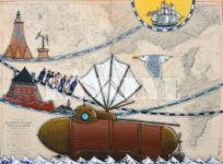 Fulton, acrylique sur carte marine, 73 x 100 cm