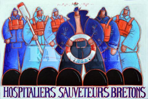 Hospitaliers Sauveteurs Bretons, acrylique sur toile, 80x120 cm
