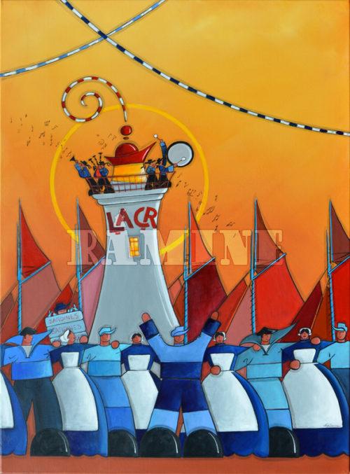 Phare de La Croix, acrylique sur toile, 73 x 100 cm