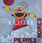 ierres Noires, acrylique sur toile et carte marine,100x100 cm