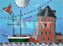 Tour Vauban, acrylique sur toile, 73x100 cm