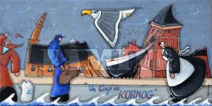 Coup de Kornog, acrylique sur toile, 30x60 cm