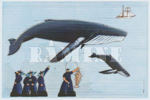 Carte postale Les Baleines