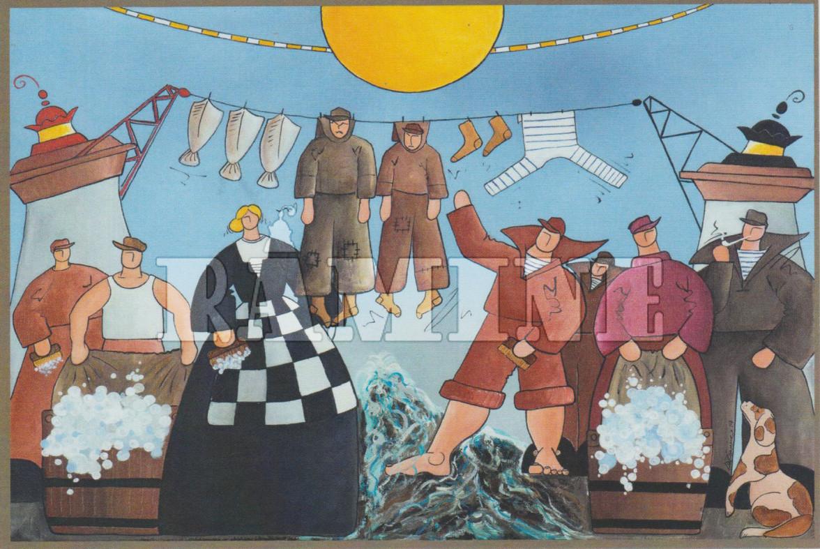 Carte postale La grande lessive