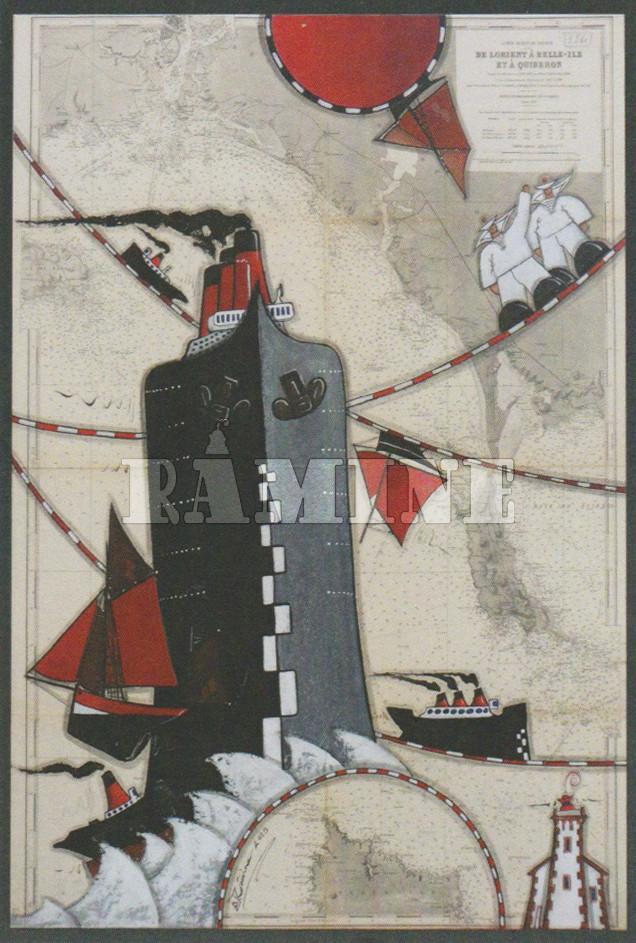 Carte postale Paquebot