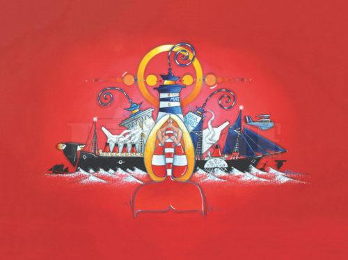La sirène Iroise, acrylique sur lin, 73 x 100 cm