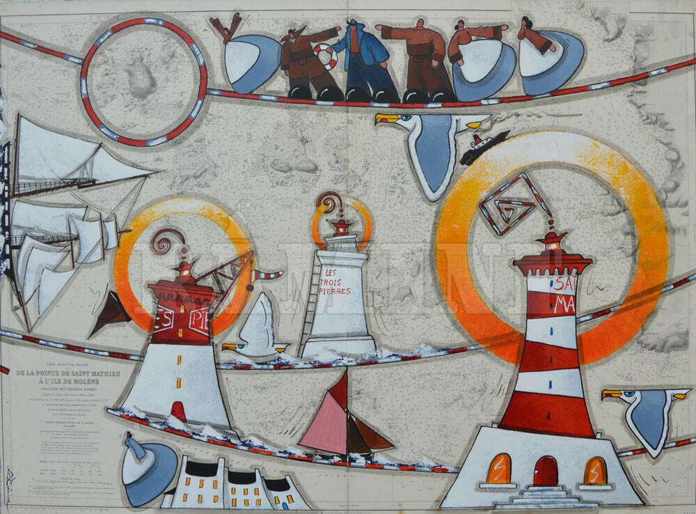 Le phare de Saint mathieu et les Pierres Noires